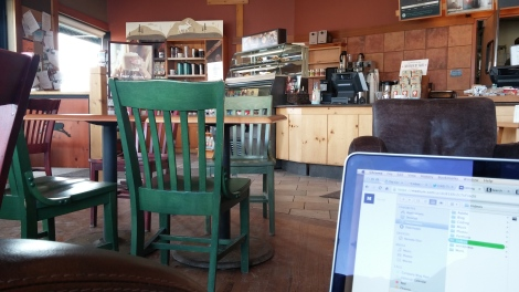 Inside a Caribou Coffee